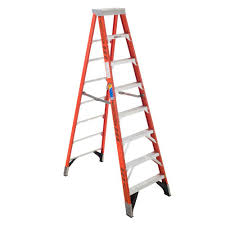 capacity werner 10 ft aluminum step ladder with 300 lb load capacity type