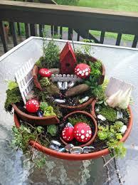 21 broken pots turned into brilliant fairy garden diy ideas
