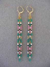 Handmade Seed Beaded Gold Plated 177 Best Beaded Earrings Images On Pinterest Bead Jewelry
