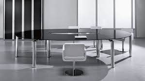 Conference Table With Chairs Captivating Round Glass Conference Table With Chrome Leg Table And