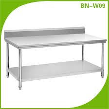Stainless Steel Work Table With Backsplash Home Design Ideas - Stainless steel table with backsplash