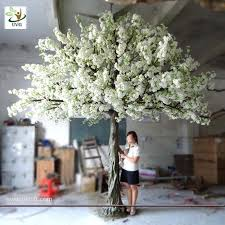 white cherry blossom uvg 4m decorative artificial tree with white cherry blossoms for