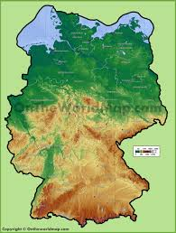 geographical map of germany germany geographical map travel maps and major tourist