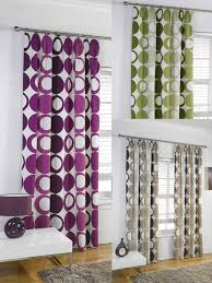Retro Curtains Fully Lined Top Funky Retro Ready Made Curtains All Colours