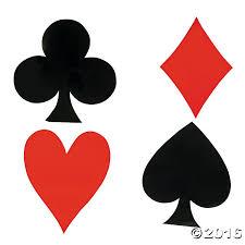 jumbo card suit cutouts casino and casino theme