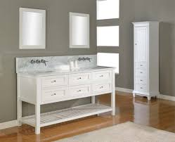 Painted Bathroom Vanity Ideas Bahtroom Tiny Storage Beside Triple Window On Grey Wall Paint For
