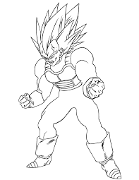 dragon ball super vegeta coloring coloring pages printable