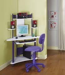 Small Computer Desk For Kitchen Kings Brand Purple Finish Corner Workstation Kids Children U0027s