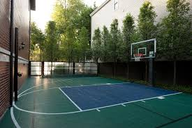 Backyard Basketball Court Backyard Basketball Court Landscape Farmhouse With Basketball