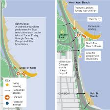 Blue Line Chicago Map by Guide To The Chicago Air And Water Show Chicago Tribune