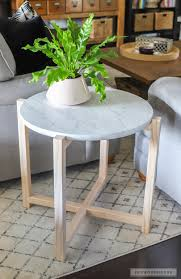 Marble Side Table To Build A Faux Marble Side Table