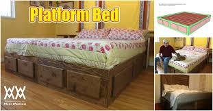Platform Bed Frame With Storage Plans by How To Build A King Size Bed With Extra Storage Underneath Free