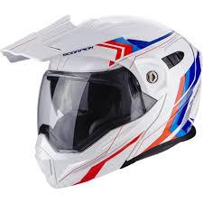 scorpion motocross helmets scorpion adx 1 anima white red blue helme maedl