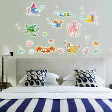 online buy wholesale smoked fish from china smoked fish night luminous 3d wall stickers creative glowing colorful cartoon underwater world fish vinyl decals for baby