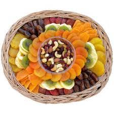 fruit and nut baskets dried fruit nut combination wicker tray 48 oz shiva
