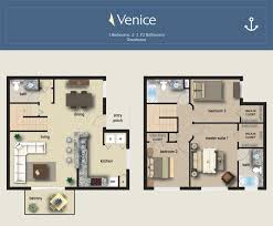 the 5 floor plans at the yacht club on the intracoastal