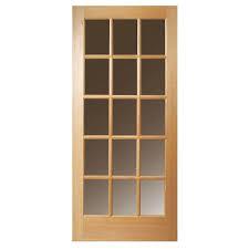 Exterior Slab Door Replacement by Masonite 30 In X 80 In 15 Lite Unfinished Fir Front Door Slab