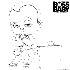 dot coloring pages the boss baby connect the dots coloring pages printable