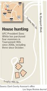 Las Vegas Traffic Map Ufc Chief Dana White Buys 3 Homes In Exclusive Las Vegas Area