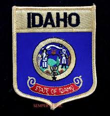 Mass State Flag Idaho State Flag Embroidered Iron On Shield Patch Boise Gem State