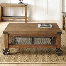 Rolling Coffee Table Industrial Coffee Table Wood Metal Rustic Cart Storage Shelves