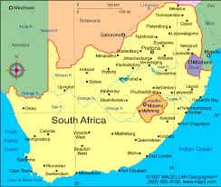 a picture of south africa map where is south africa map world