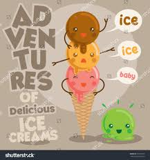 ice cream emoji cute funny delicious ice cream vector stock vector 570226372