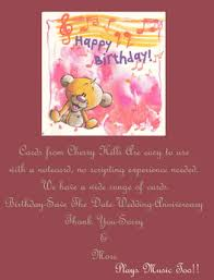happy birthday singing cards second marketplace happy birthday song birthday card chb