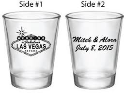wedding favor glasses 24 wedding favors personalized las vegas glasses custom