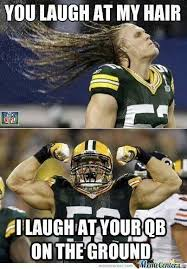 Funny Packers Memes - clay matthews hair humor green bay packers not a fan of green bay