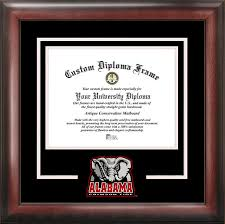 of alabama diploma frame alabama crimson tide diploma frame 303465