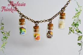 glass bottle necklace images The four seasons in tiny glass bottles necklace fantasiatrinkets jpg