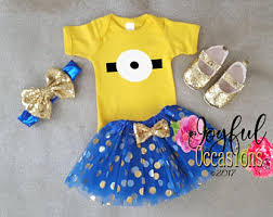 Minion Tutu Dress Etsy Baby Minion Costume Etsy