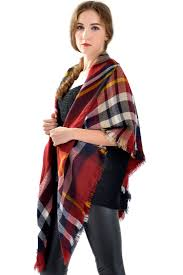 red navy fashion classic scottish plaid scarf oasap com
