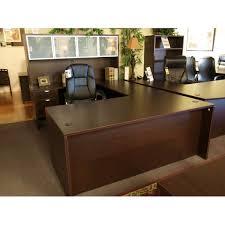 Small Espresso Desk New Espresso Small U Shape Desk Sk Office Furniture
