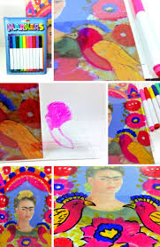 frida kahlo inspired self portrait for kids woo jr kids activities