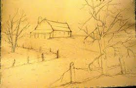 winter barn 1 2 sheet sketch 1 wetcanvas
