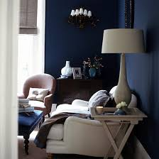 dark blue is said to be a great living room paint color because