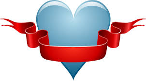 heart ribbon heart ribbon clip free vector 4vector