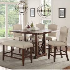 dining room high tables counter height dining sets you ll love wayfair