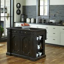 carts islands utility tables kitchen the home depot hacienda weathered walnut kitchen island with drop leaf