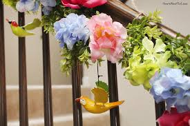 Banister Garland Ideas Spring Staircase Garland How To Nest For Less