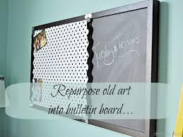repurposed art becomes memo board