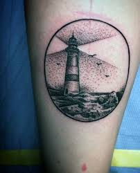 Lighthouse Tattoo Ideas Lighthouse Tattoos Designs And Ideas Page 9 Negative Space