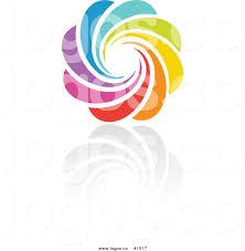 royalty free rainbow circle vector logo 16 by elena 1517