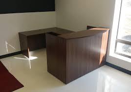 u shaped reception desk classic u shaped reception desk toronto new used office