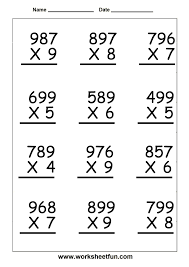 Long Division Worksheets 3rd Grade Th Grade Math Worksheets Reading Writing And Rounding Big Numbers