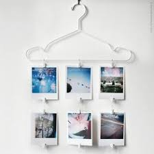 photo hanger clips cute diy photo display idea square instagram prints colored