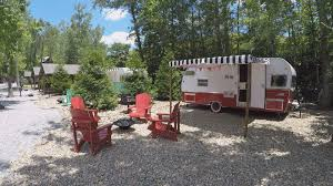 Retro Campers by Gatlinburg Resort U0027glamp Lifies U0027 Outdoor Living With Retro Campers