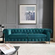 teal velvet chesterfield sofa sofa awesome blue green sofa corvus prato velvet chesterfield sofa